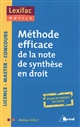 METHODE EFFICACE DE LA NOTE DE SYNTHESE EN DROIT